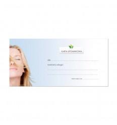 Karta Upominkowa na refleksoterapię do Gabinetu Terapii Naturalnych