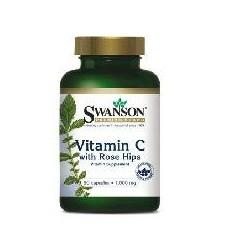 Swanson Witamina C 1000mg + dzika róża 250 - suplement diety