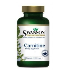 Swanson L-karnityna 500 mg - suplement diety
