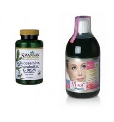 Zestaw na stawy - Viva Collagen i Glukosamina/Chondroityna/MSM - suplement diety