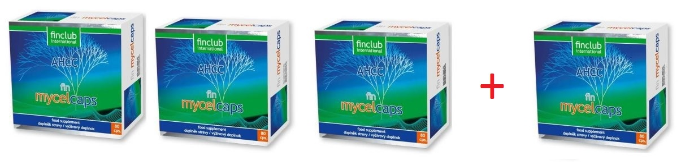 Mycelcaps zestaw 3+1