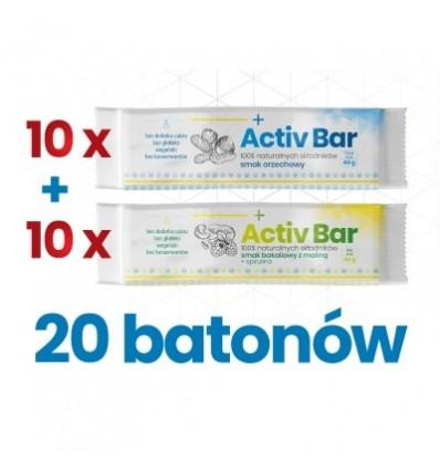 NaturDay - zestaw batonów ActivBar - 20 szt